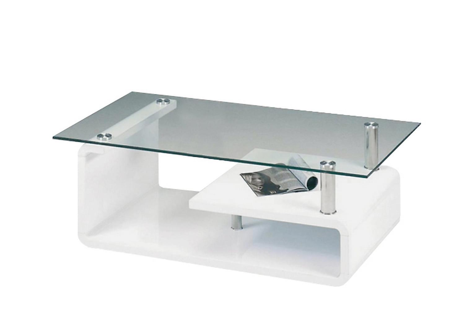 SNOW Soffbord 120 Vit/Glas