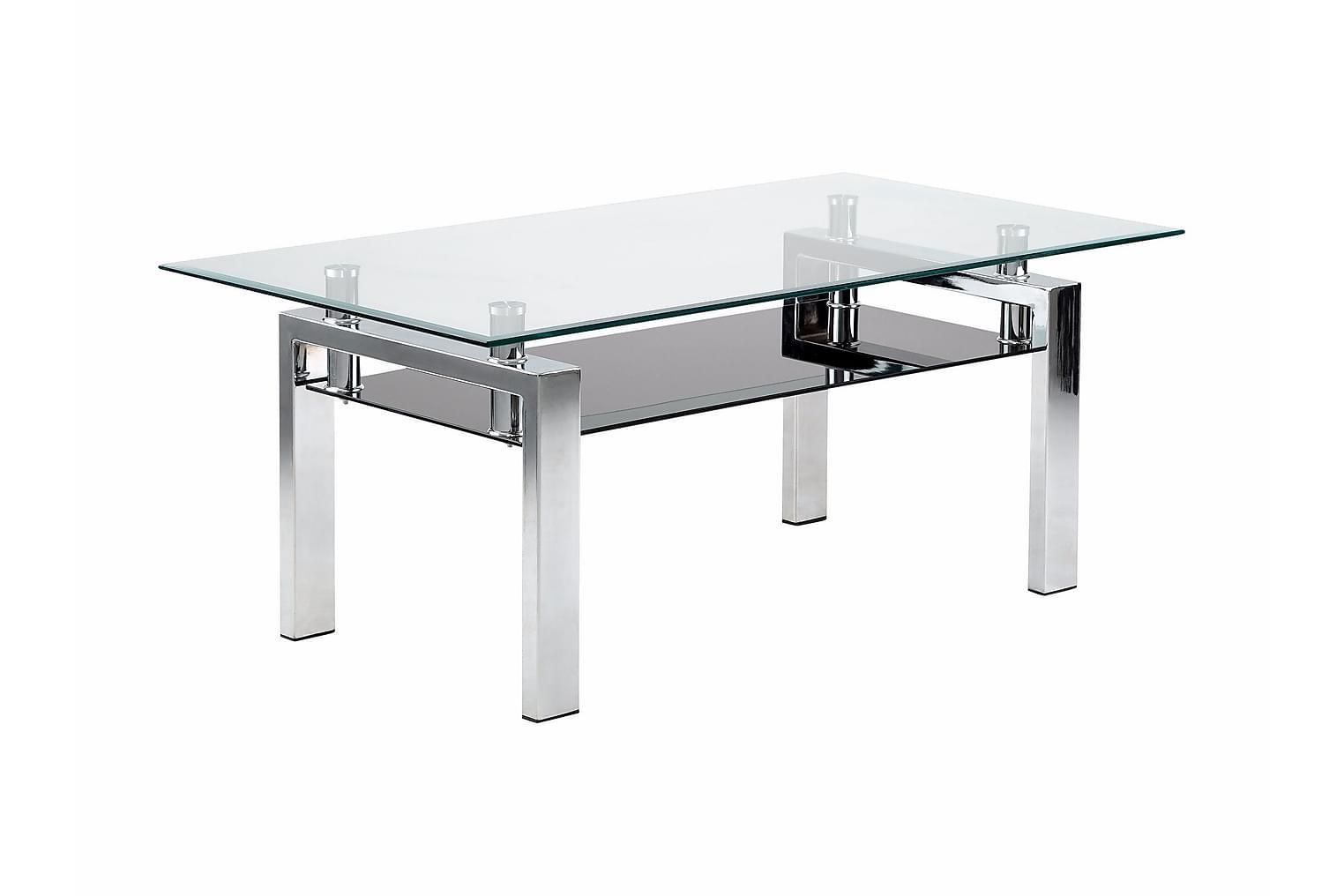 GRÄSÅS Soffbord 110 Rostfritt stål/Glas