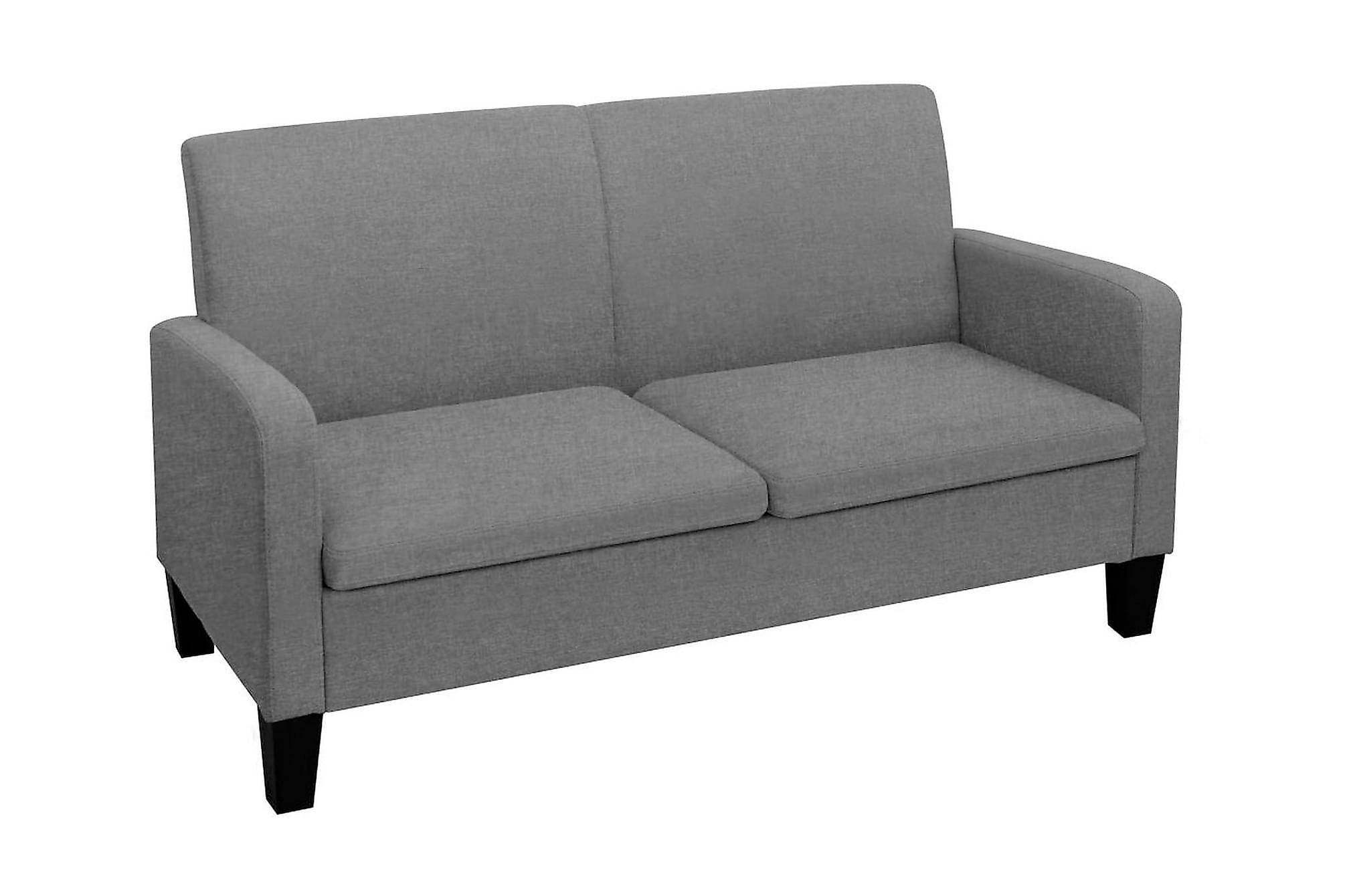 2-sitssoffa 135x65x76 cm mörkgrå, 2-sits soffor