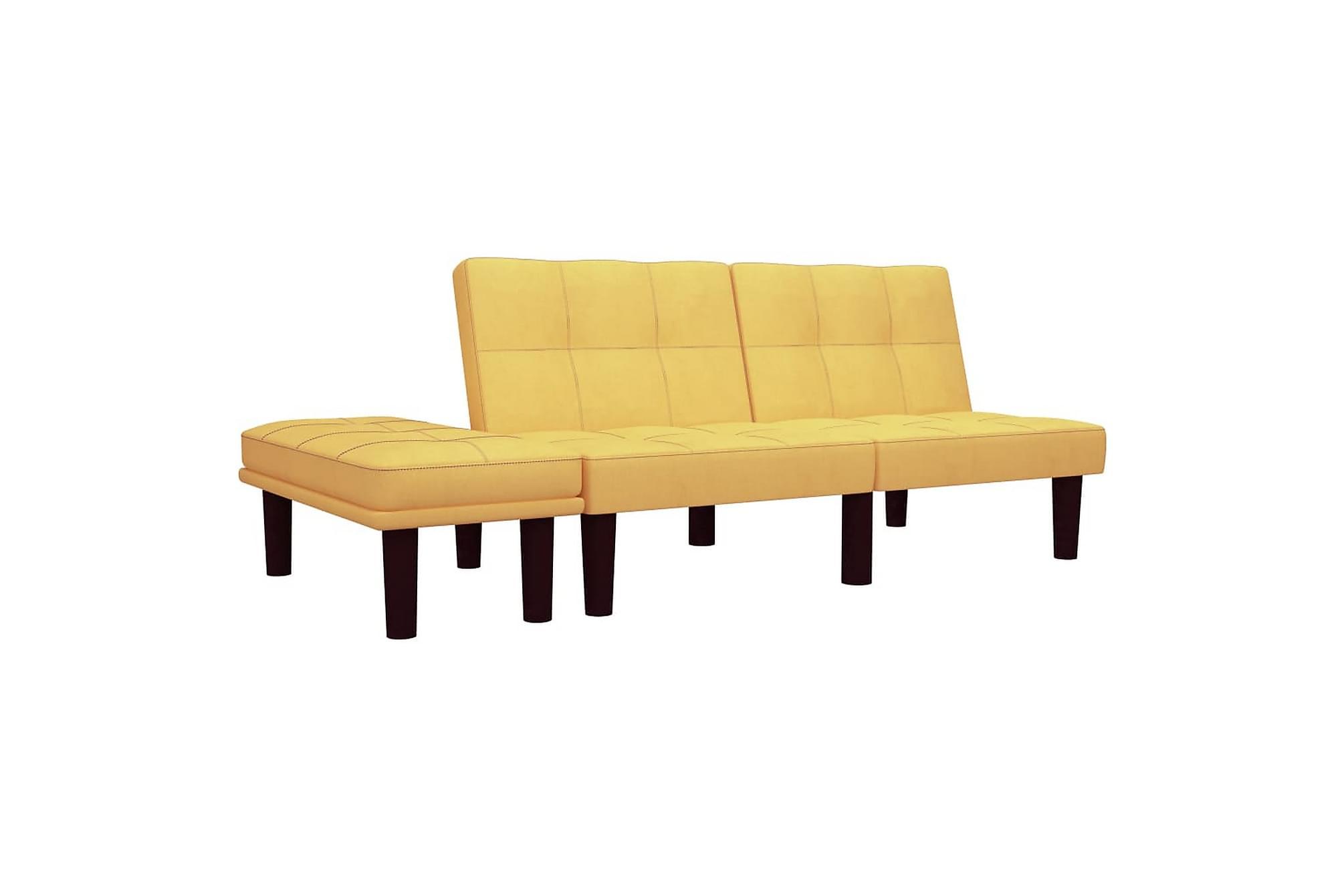 2-sitssoffa gul tyg, 2-sits soffor