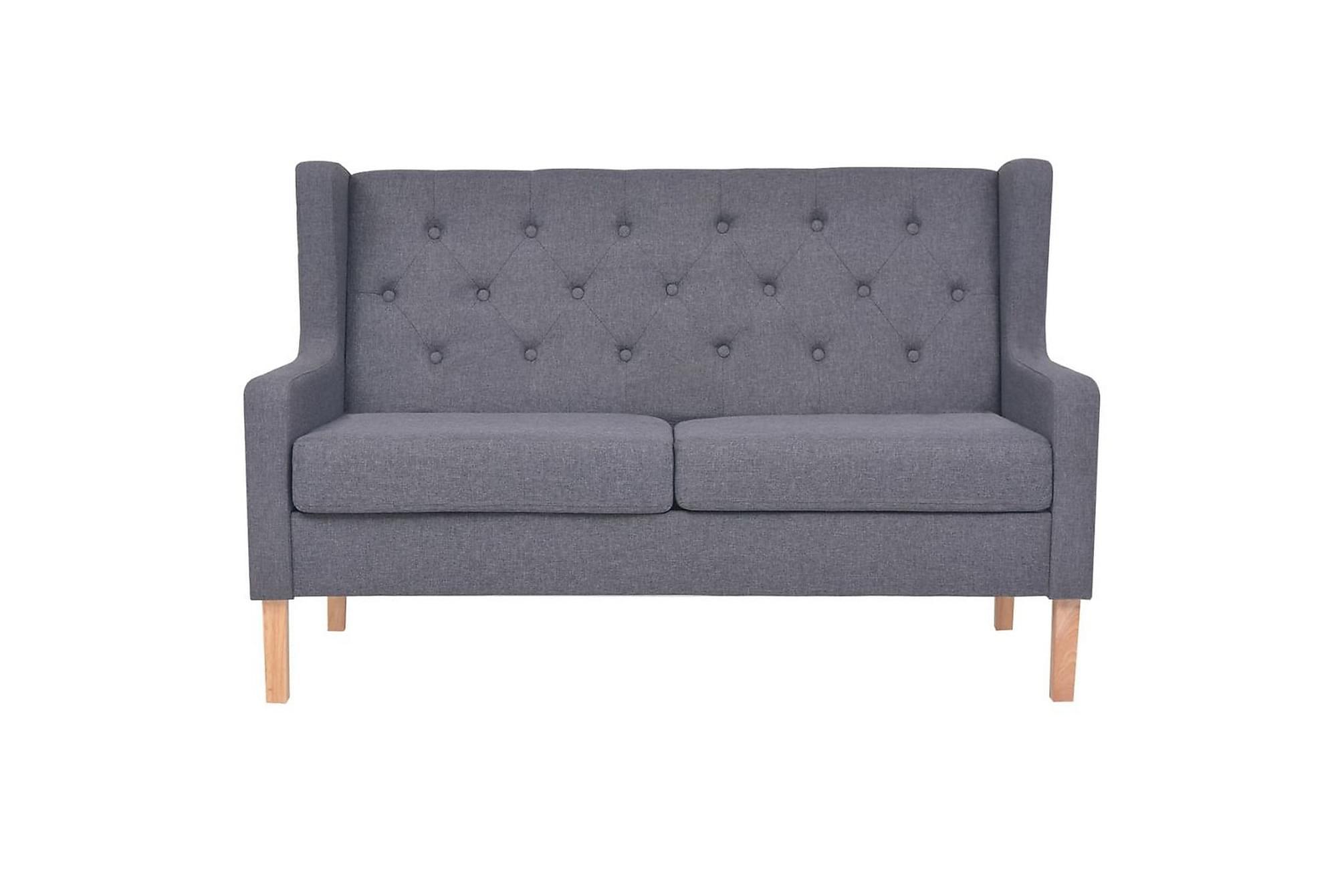 2-sitssoffa i tyg grå, 2-sits soffor
