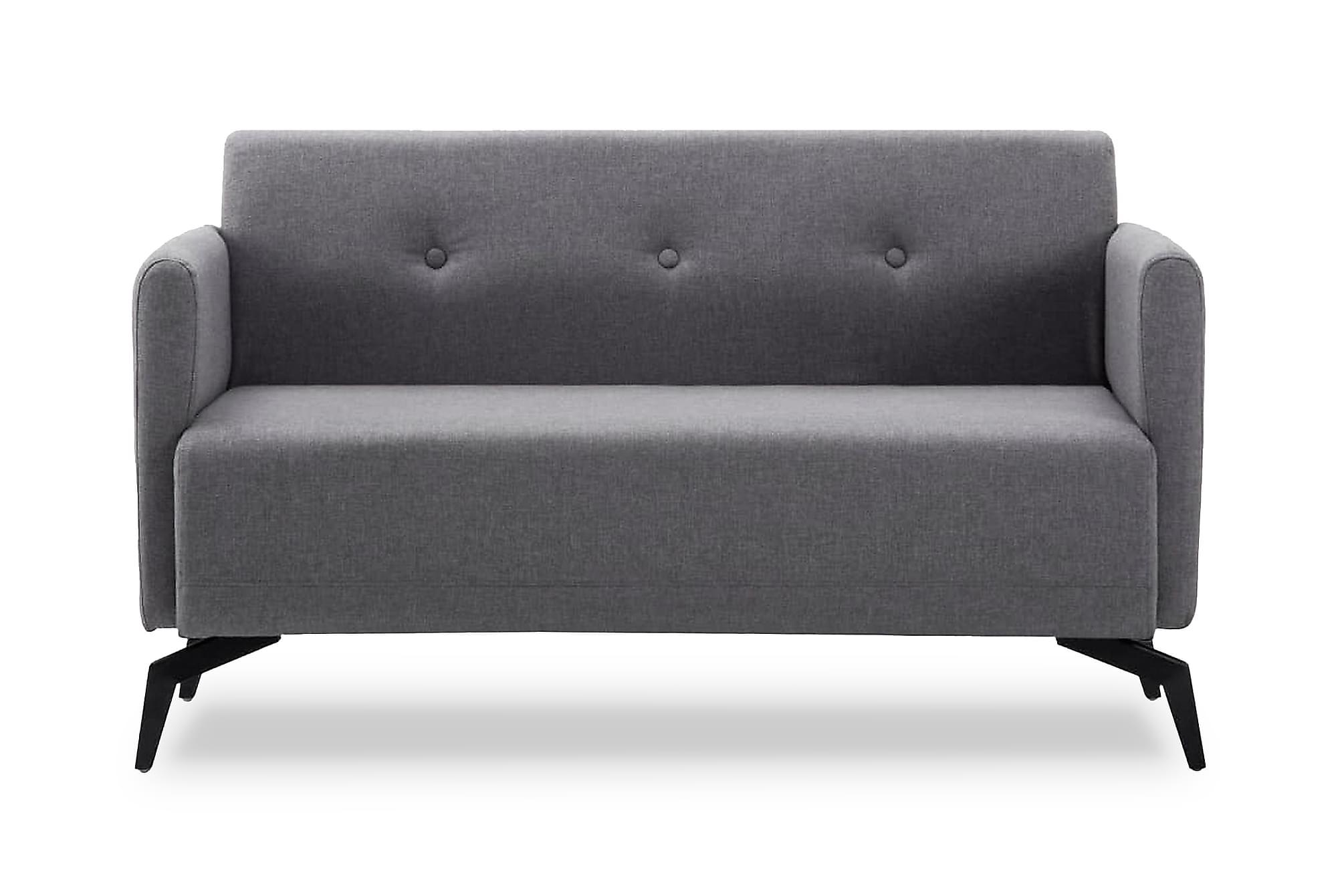 2-sitssoffa med tygklädsel 115x60x67 cm ljusgrå, 2-sits soffor