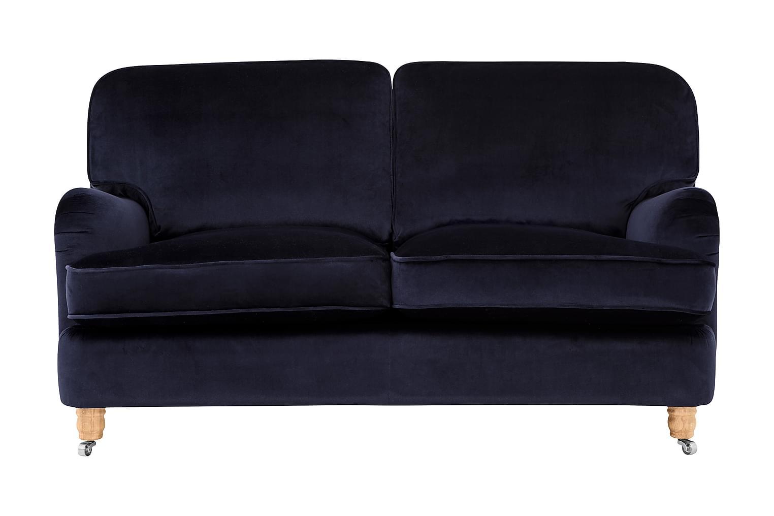 Howard-Deluxe HOWARD-DELUXE 2-sits Soffa Sammet Mörkblå -