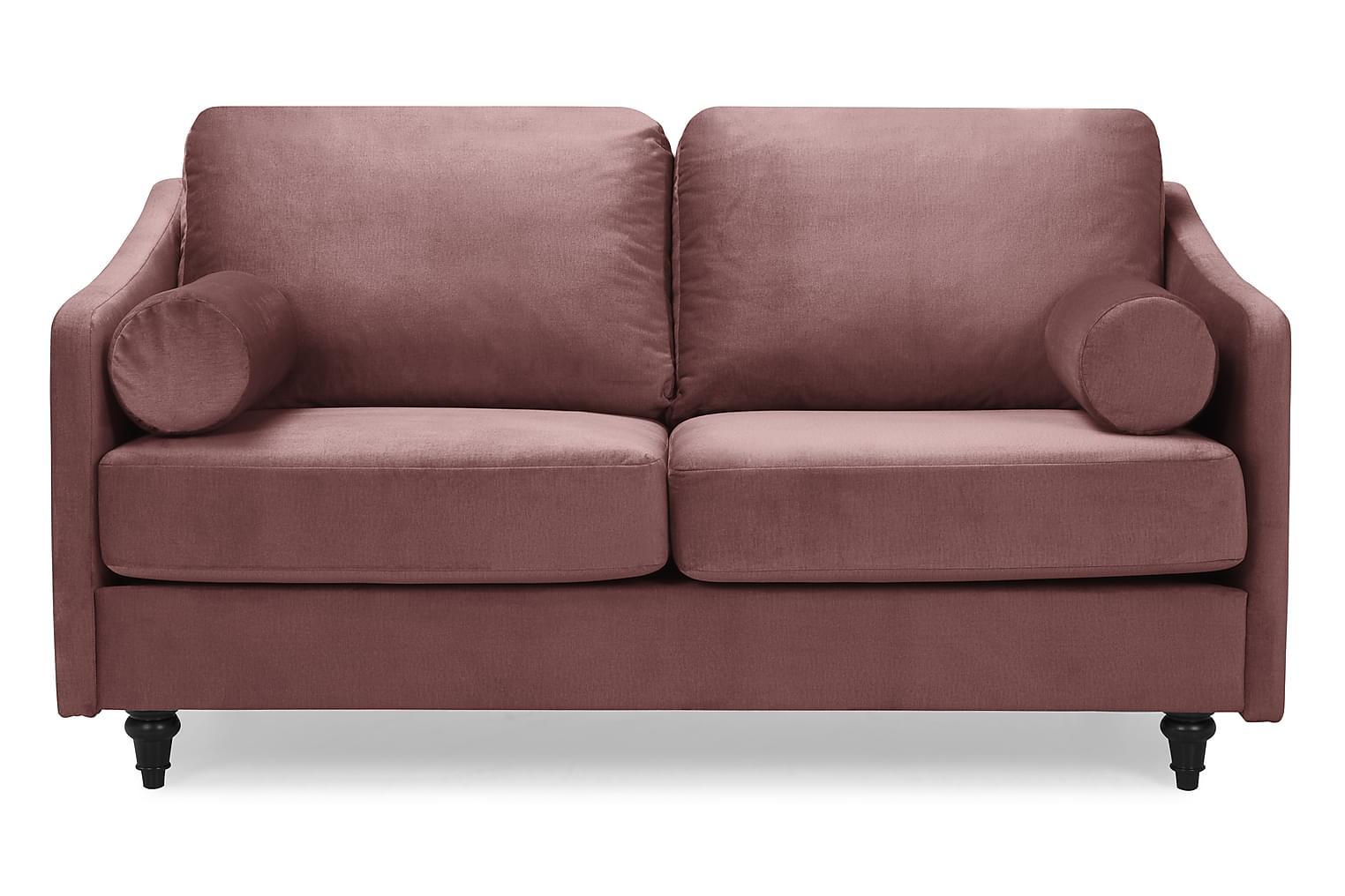 RICADI 2-sits Soffa Rosa Sammet -
