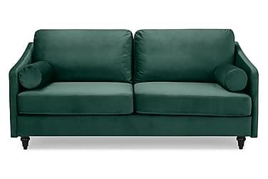 RICARDI Sammetssoffa 3-sits Grön