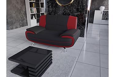 STIBY 2-sits Soffa Röd/Svart