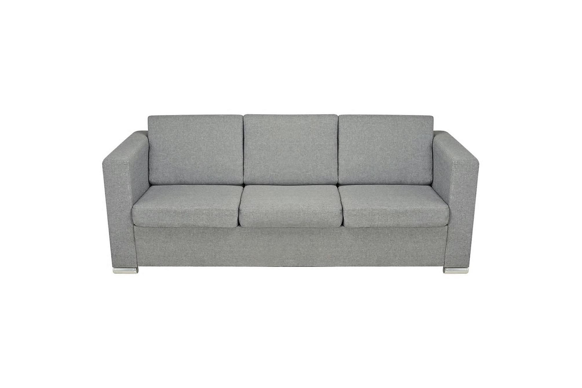 3-sitssoffa i tyg ljusgrå, 3-sits soffor