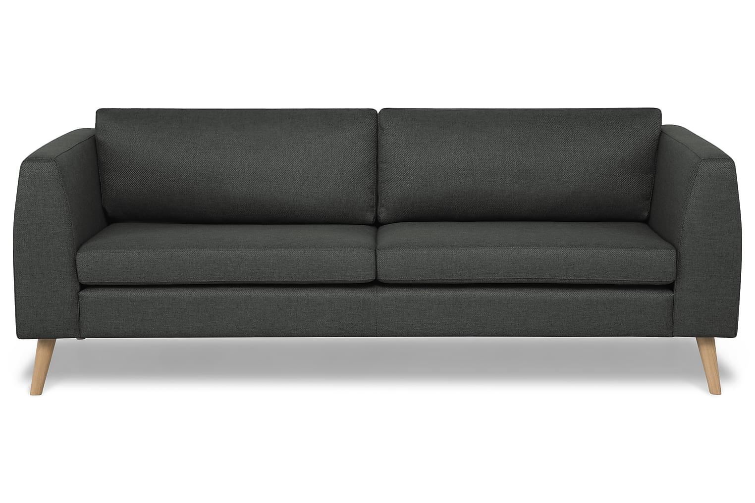 HARRIET 3-Sits Soffa Mörkgrå -