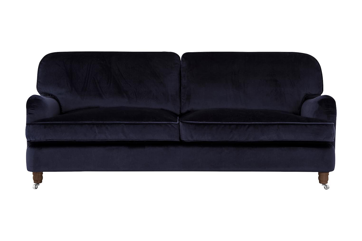 Howard-Deluxe HOWARD-DELUXE 3-sits Soffa Sammet Mörkblå -