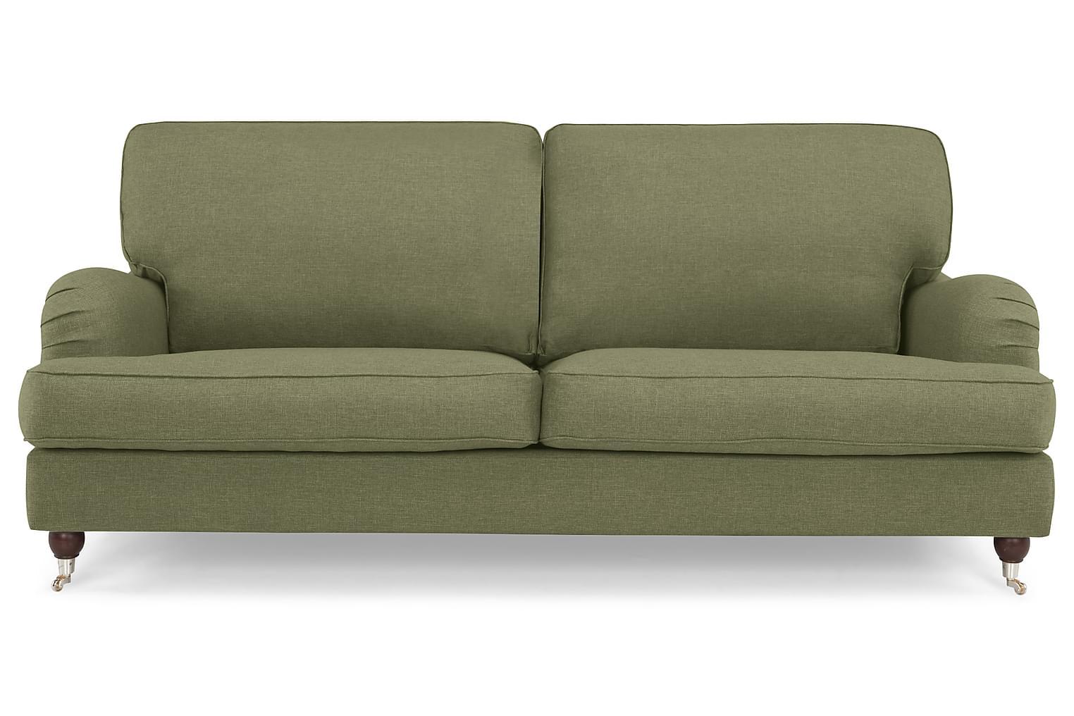 Howard Lyx Soffa Rak 3-Sits Olivgrön -
