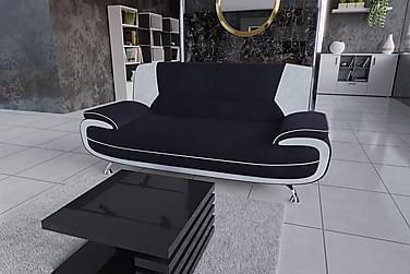 STIBY 3-sits Soffa Svart/Vit