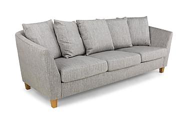 TITUS 3-sits Soffa Kuvertkuddar Tvättbart Tyg Ljusgrå