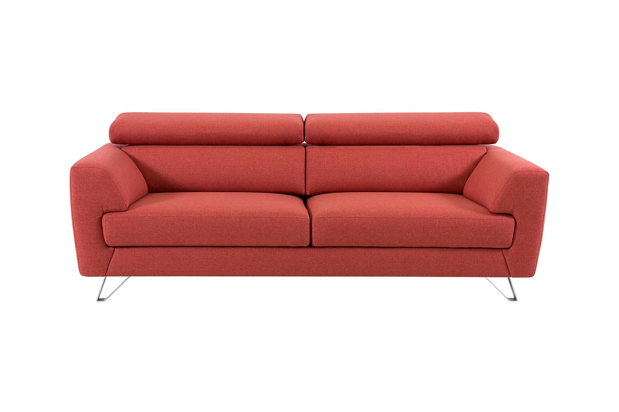 TROY 3-sits Soffa Röd