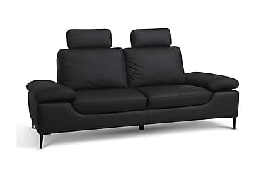 VOLTERRA 3-sits Soffa Läder/PVC Svart