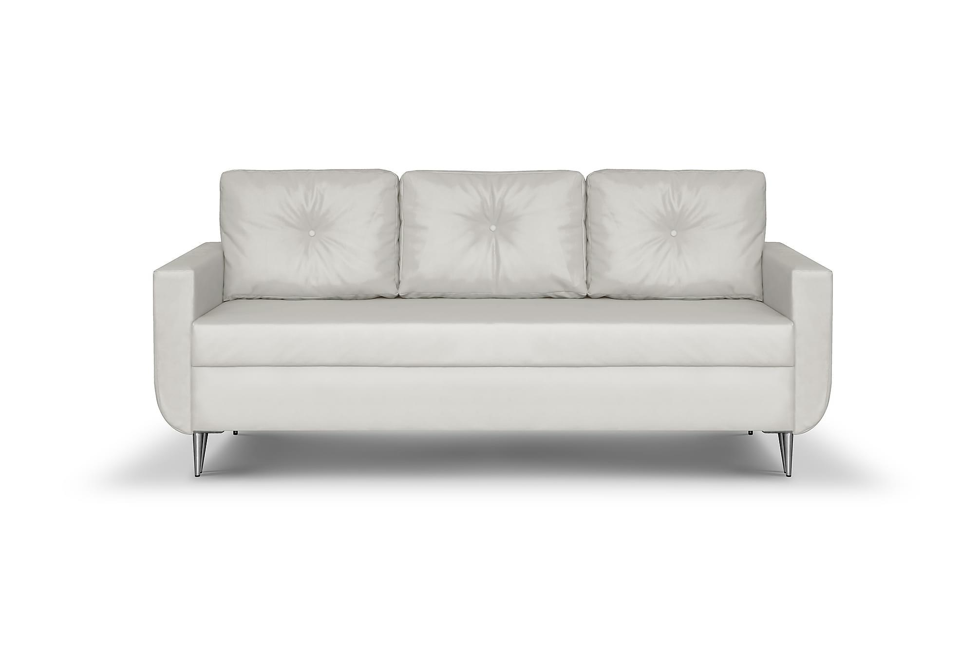 ALIOLLE 3-sits Soffa Vit