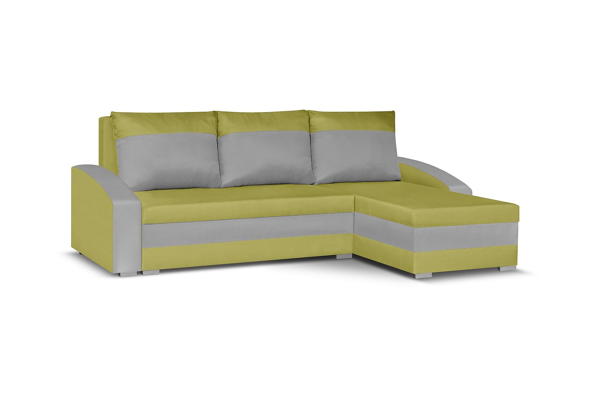 Banyoles divanbäddsoffa grön/grå