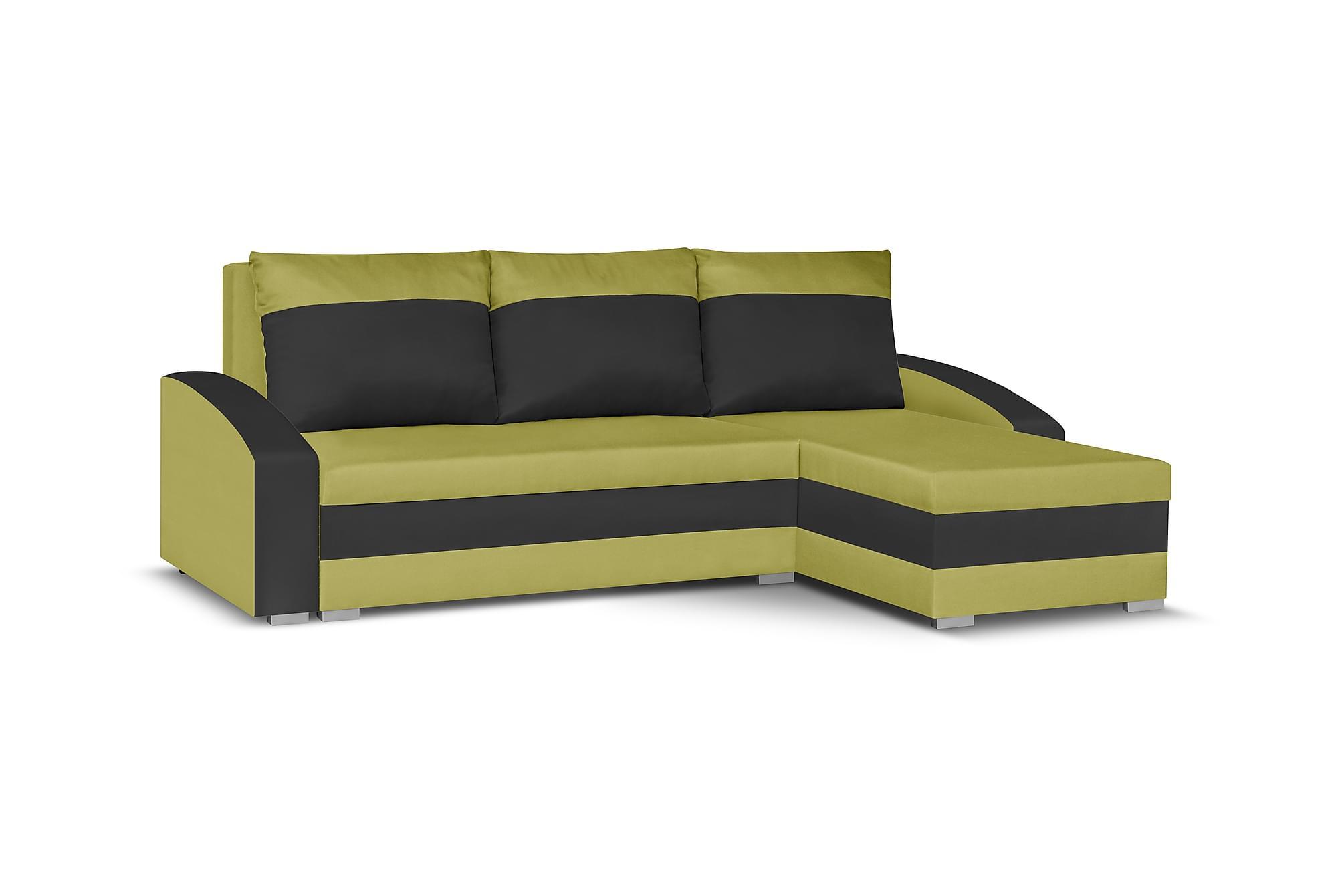 Banyoles divanbäddsoffa grön/svart