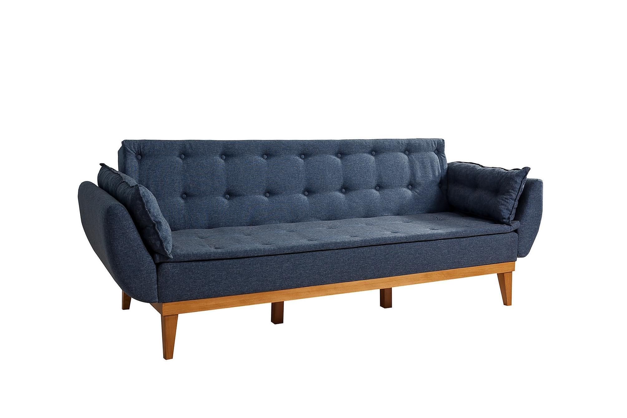 Chandramouli 3-sits bäddsoffa blå