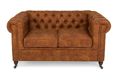 CHESTERFIELD LUX 2-sits Soffa Cognac
