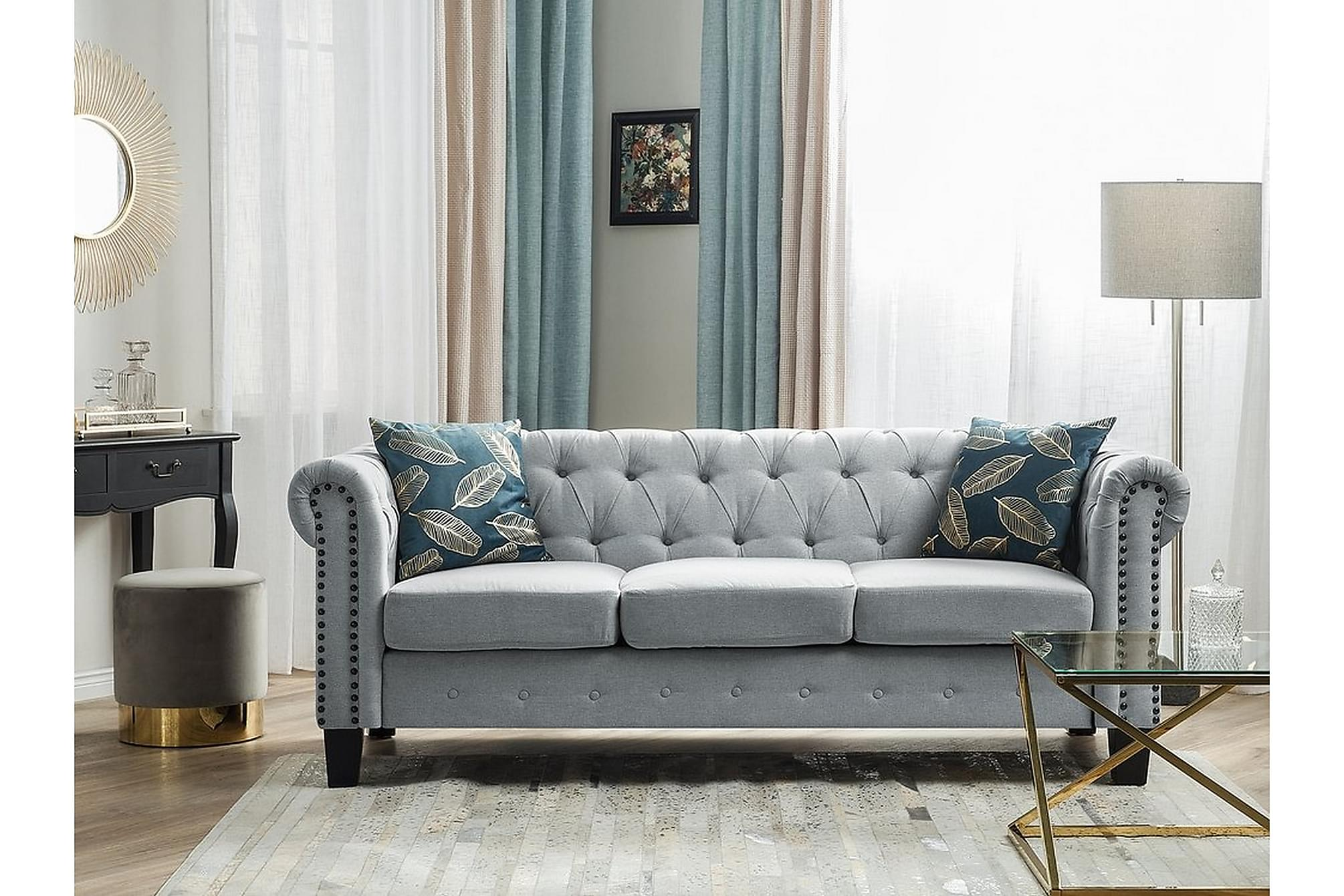 CHESTERFIELD Soffa 3 sits