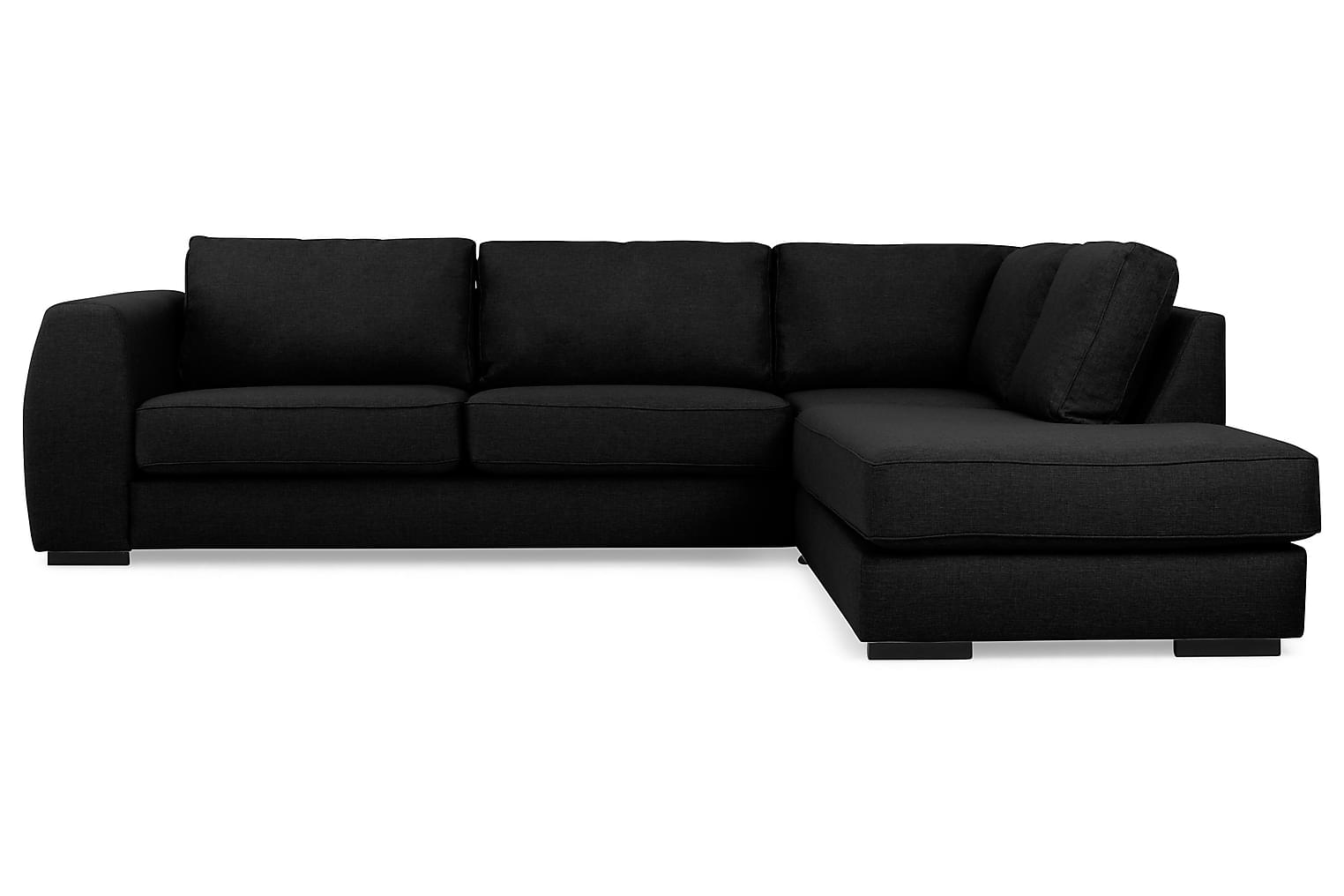 Clarksville CLARKSVILLE L-soffa Höger Svart -