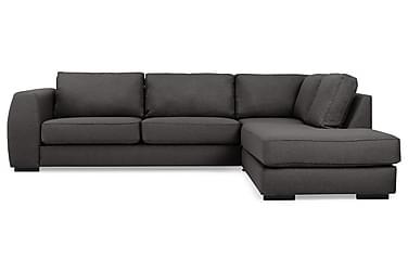 CLARKVILLE 3-sits Soffa med Schäslong Höger Mörkgrå