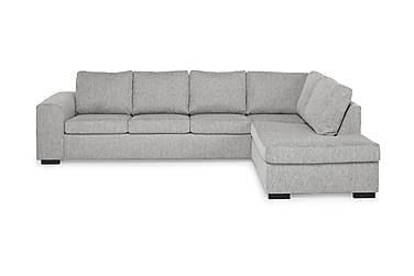 CONNECT 4-sits Soffa med Schäslong Höger Ljusgrå
