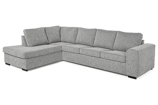 CONNECT 4-sits Soffa med Schäslong Vänster Ljusgrå - Möbler & Inredning - Soffor - Divansoffor