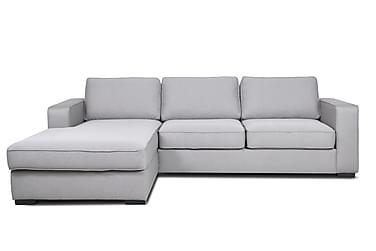 DANTEZ 3-sits Soffa med Divan Vänster Ljusgrå