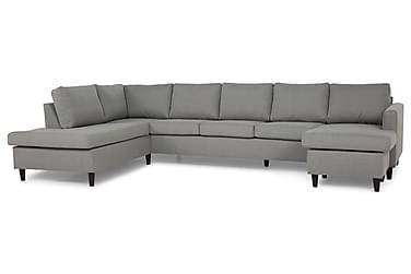 JAN U-soffa Large med Divan Höger Ljusgrå