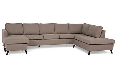 JAN U-soffa Large med Divan Vänster Beige