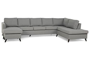JAN U-soffa Large med Divan Vänster Ljusgrå