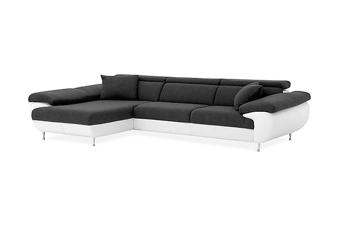 KARLSRUHE Divansoffa 4-sits Vänster Vit/Antracit - Möbler & Inredning - Soffor - Divansoffor