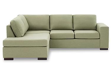 KENT 3-sits Soffa med Schäslong Vänster Grön
