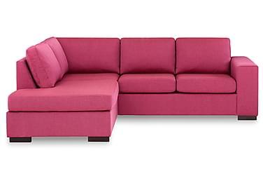 KENT 3-sits Soffa med Schäslong Vänster Rosa