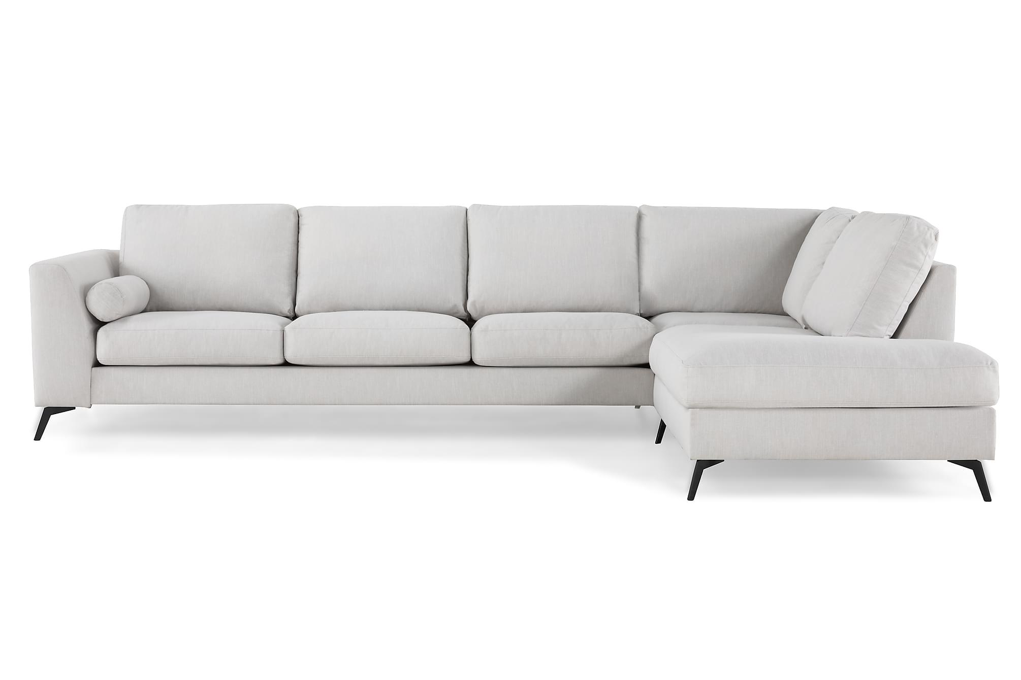 NASHVILLE LYX 4-sits Soffa med Schäslong Höger Linnebeige