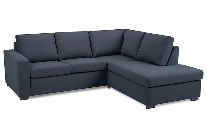 Fräscha NEW YORK 3-sits L-soffa Höger Mörkblå - Divansoffor IA-37