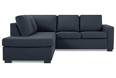 NEW YORK 3-sits L-soffa Vänster Mörkblå