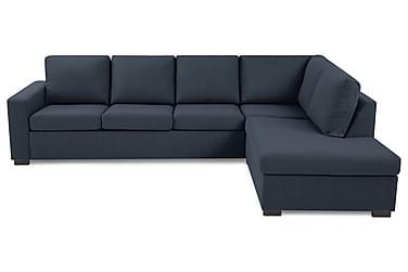NEW YORK 3-sits Soffa med Schäslong Höger Mörkblå