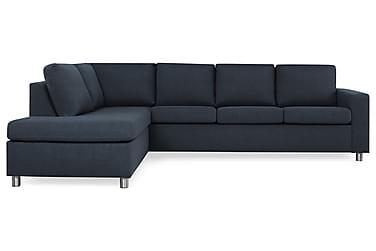 NEW YORK 3-sits Soffa med Schäslong Vänster Mörkblå