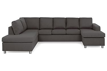NEW YORK U-soffa XL Divan Höger Mörkgrå
