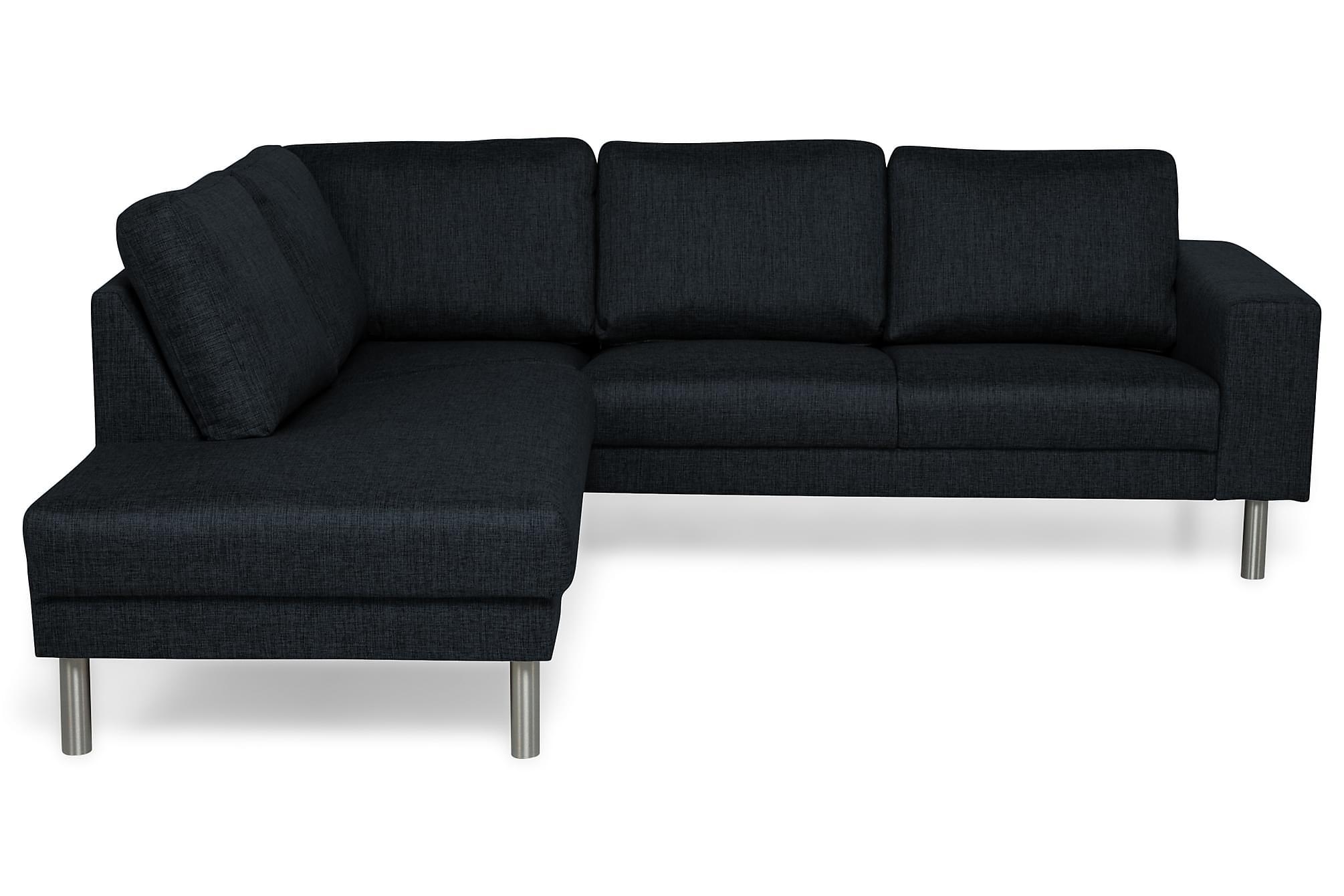 RIMELLA 4-sits Soffa med Schäslong Vänster Blå