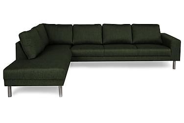 RIMELLA Soffa Large med Schäslong Vänster Grön