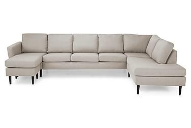 STAMFORD U-soffa Large med Divan Vänster Beige/Svart
