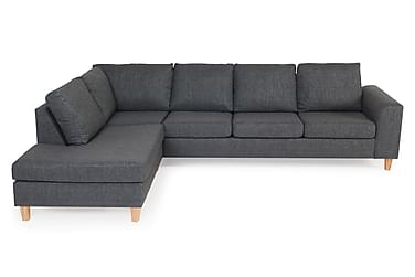 TORIN 3-sits Soffa med Schäslong Vänster Grå