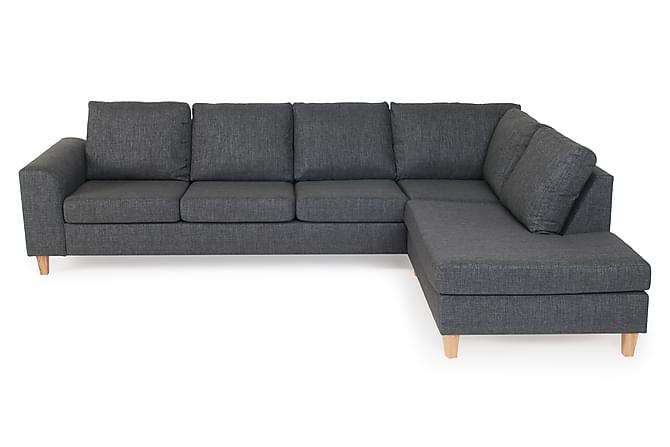 Berömda TORIN 4-sits Soffa med Schäslong Höger Grå - Divansoffor ZW-19