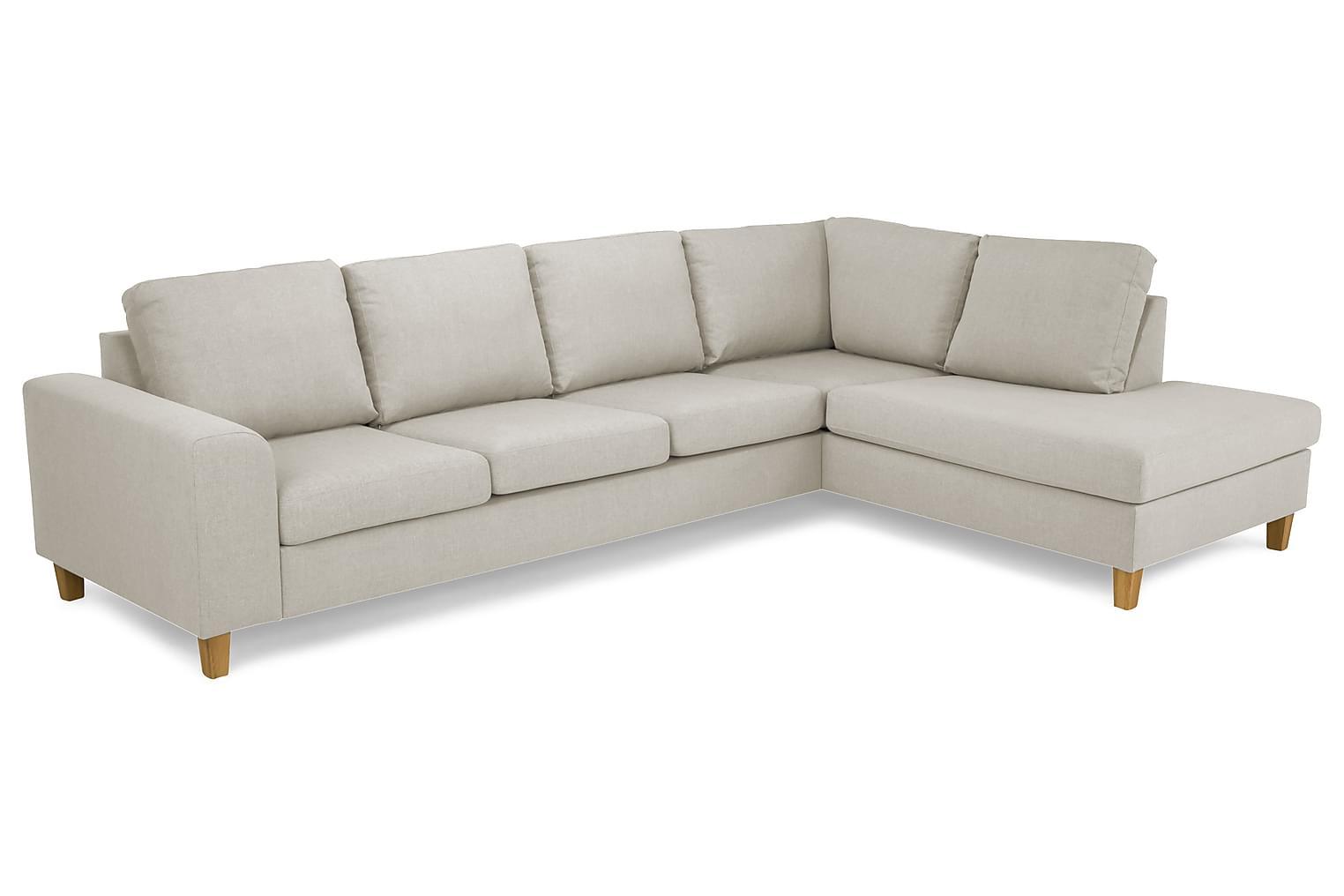 TURIN L-soffa 3-sits Höger Beige/Ekben -