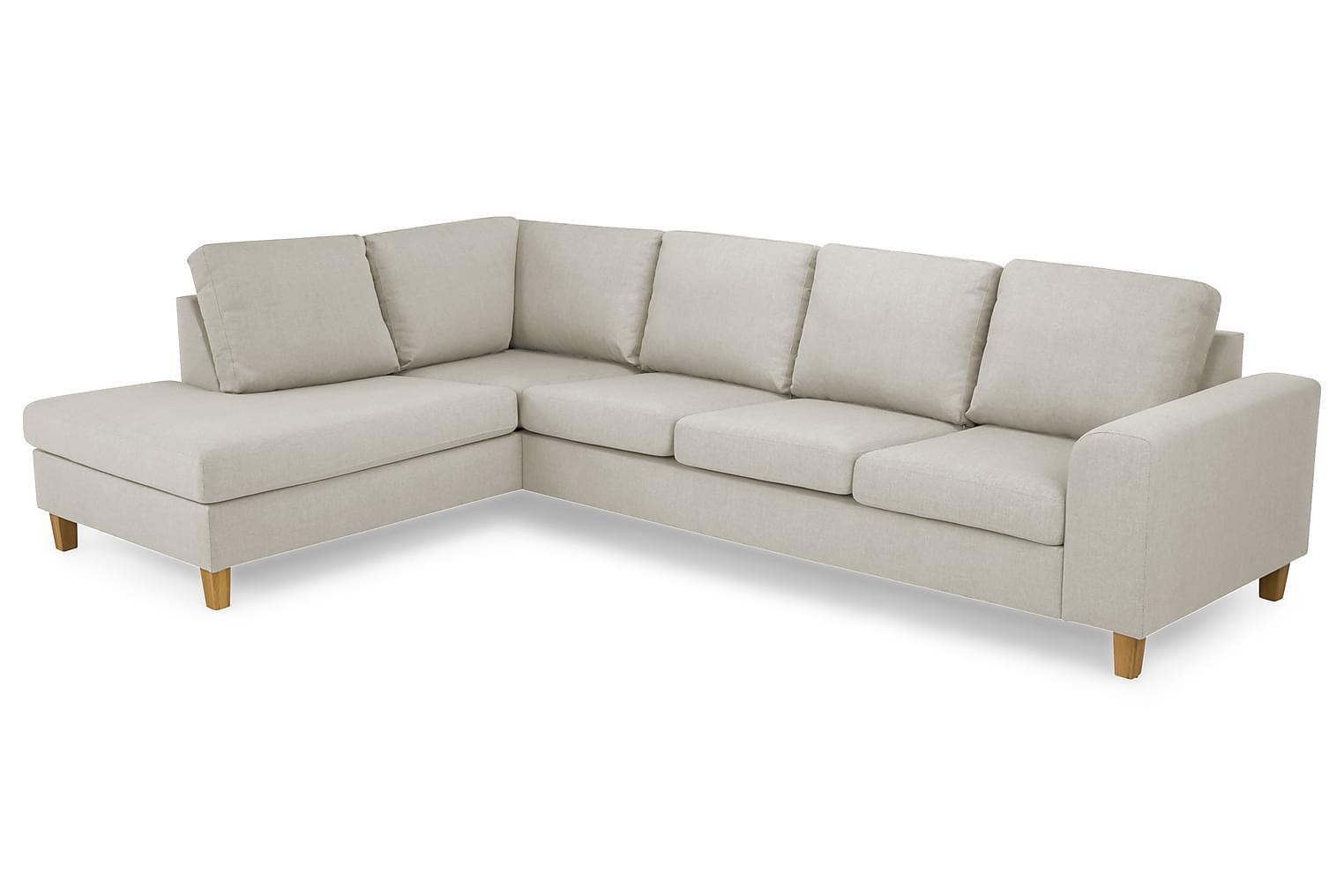 TURIN L-soffa 3-sits Vänster Beige/Ekben -