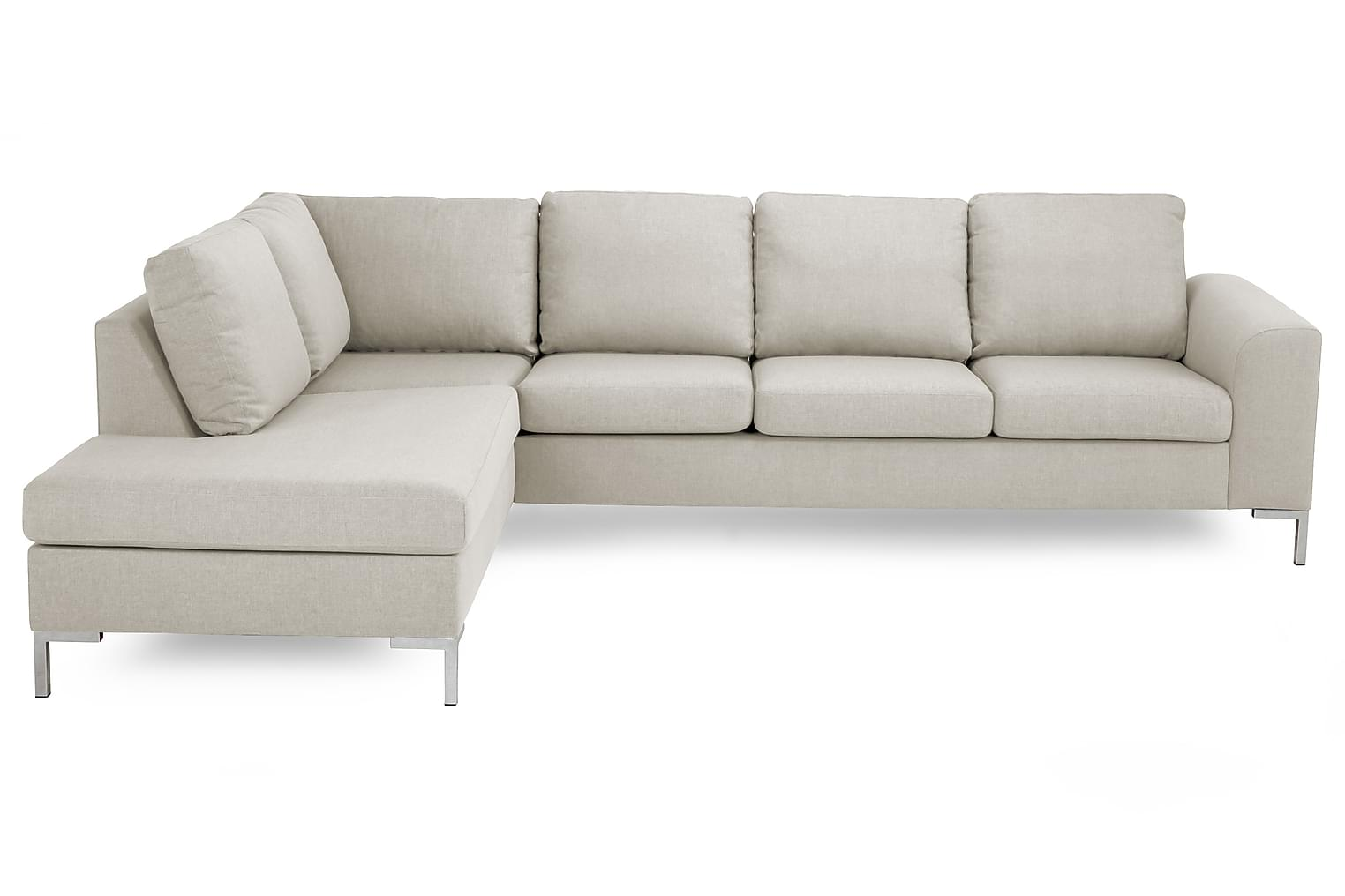 TURIN L-soffa 3-sits Vänster Beige/Metall -