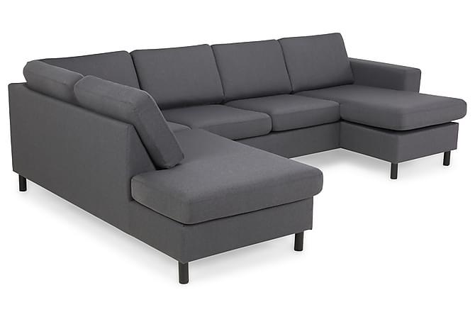 VINCE U-soffa med Divan Höger Grå - Inomhus - Soffor - Divansoffor